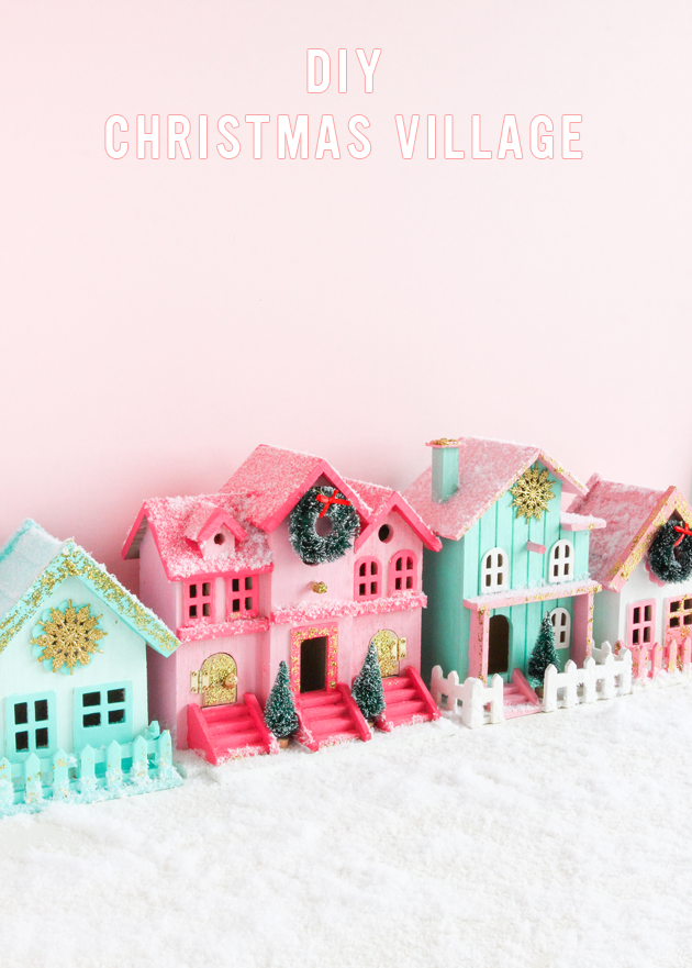 Pinned It, Made It, Loved It: DIY Christmas Village