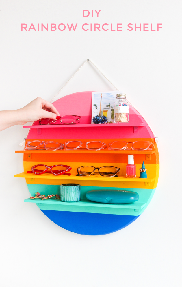 DIY Rainbow Circle Shelf