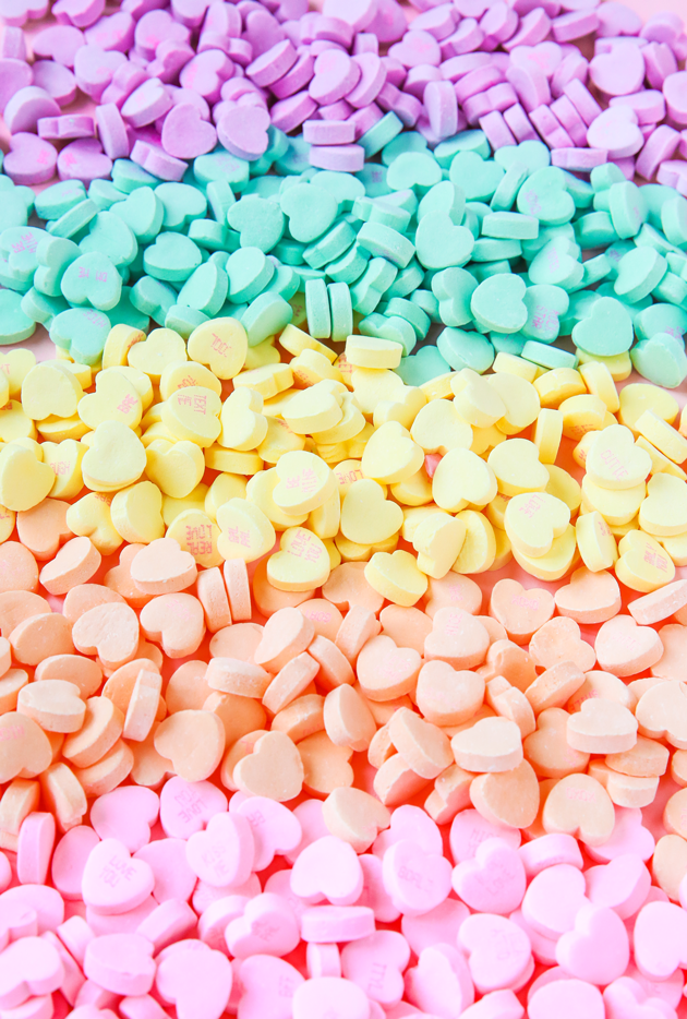 Candy Heart Phone Wallpaper Download