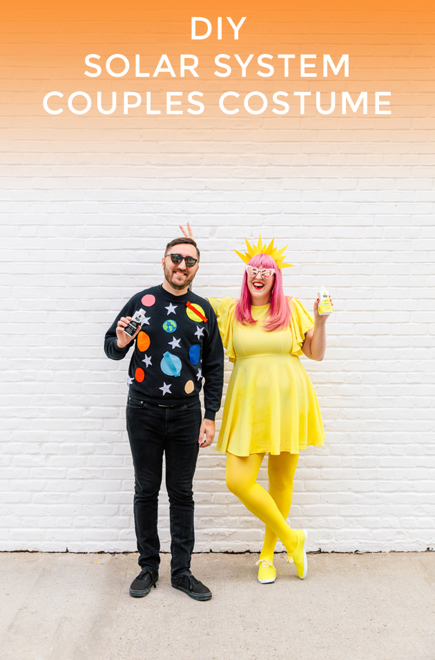 DIY Solar System Couples Costume