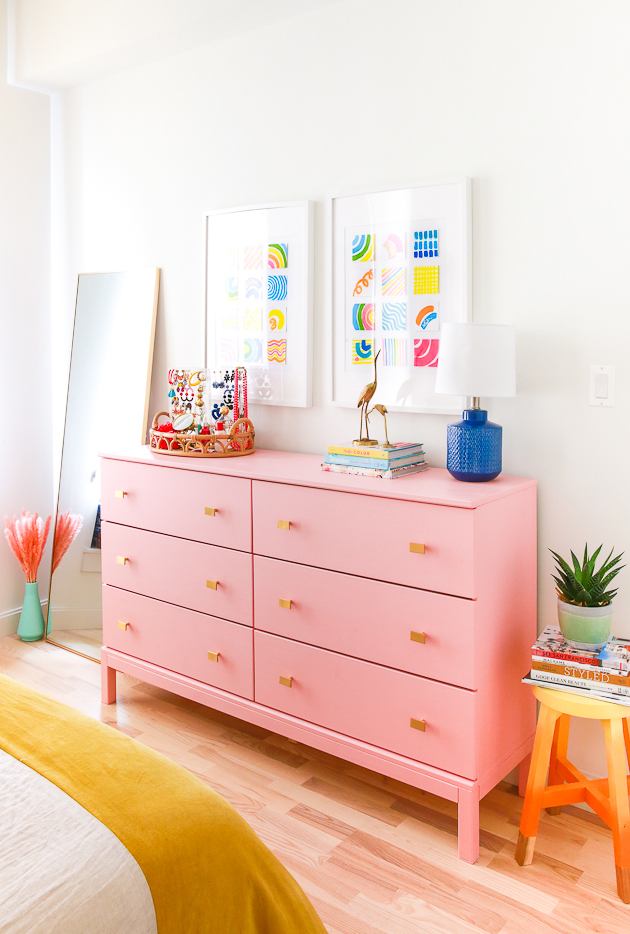 Colorful Bedroom Makeover